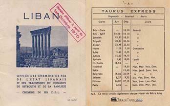 Beirut ---- Paris train ticket