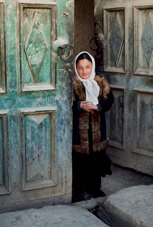Ragazza sull'uscio Afghanista 2003:Steve McCurry